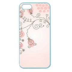 Simple Flower Polka Dots Pink Apple Seamless Iphone 5 Case (color)