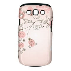 Simple Flower Polka Dots Pink Samsung Galaxy S Iii Classic Hardshell Case (pc+silicone)