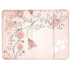 Simple Flower Polka Dots Pink Samsung Galaxy Tab 7  P1000 Flip Case