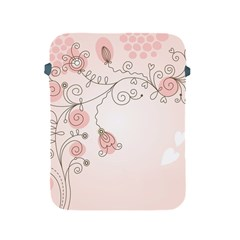 Simple Flower Polka Dots Pink Apple Ipad 2/3/4 Protective Soft Cases