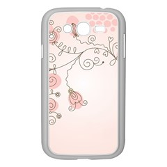 Simple Flower Polka Dots Pink Samsung Galaxy Grand Duos I9082 Case (white)