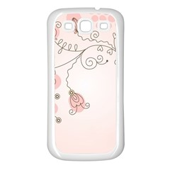 Simple Flower Polka Dots Pink Samsung Galaxy S3 Back Case (white)