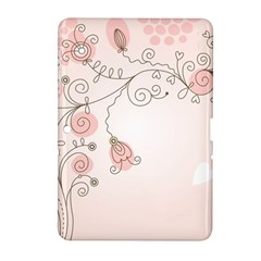 Simple Flower Polka Dots Pink Samsung Galaxy Tab 2 (10 1 ) P5100 Hardshell Case