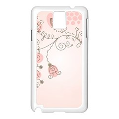 Simple Flower Polka Dots Pink Samsung Galaxy Note 3 N9005 Case (white)