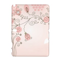 Simple Flower Polka Dots Pink Galaxy Note 1