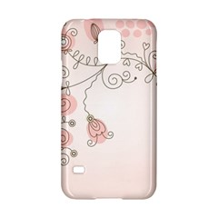 Simple Flower Polka Dots Pink Samsung Galaxy S5 Hardshell Case