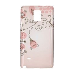 Simple Flower Polka Dots Pink Samsung Galaxy Note 4 Hardshell Case