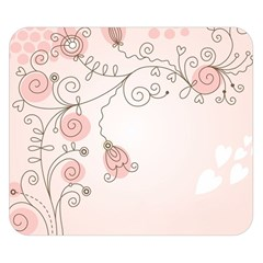 Simple Flower Polka Dots Pink Double Sided Flano Blanket (small)