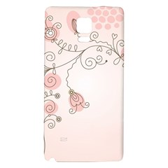 Simple Flower Polka Dots Pink Galaxy Note 4 Back Case
