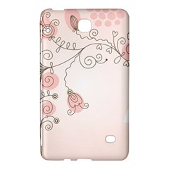 Simple Flower Polka Dots Pink Samsung Galaxy Tab 4 (8 ) Hardshell Case
