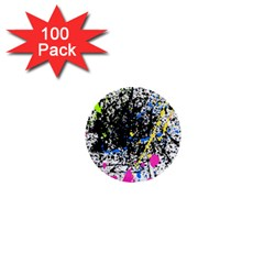 Spot Paint Pink Black Green Yellow Blue Sexy 1  Mini Buttons (100 Pack)