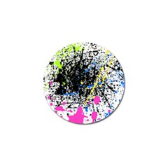 Spot Paint Pink Black Green Yellow Blue Sexy Golf Ball Marker (4 Pack)