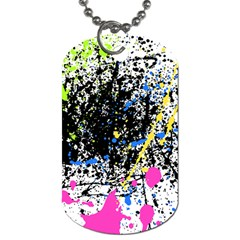 Spot Paint Pink Black Green Yellow Blue Sexy Dog Tag (two Sides)