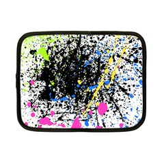 Spot Paint Pink Black Green Yellow Blue Sexy Netbook Case (small)