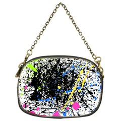 Spot Paint Pink Black Green Yellow Blue Sexy Chain Purses (one Side)
