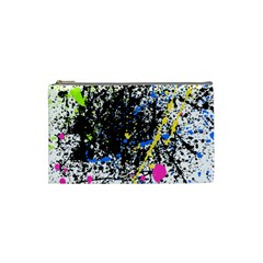 Spot Paint Pink Black Green Yellow Blue Sexy Cosmetic Bag (small)