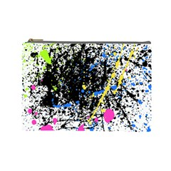 Spot Paint Pink Black Green Yellow Blue Sexy Cosmetic Bag (large)