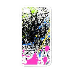 Spot Paint Pink Black Green Yellow Blue Sexy Apple Iphone 4 Case (white)