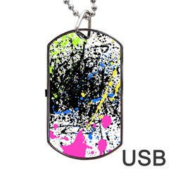 Spot Paint Pink Black Green Yellow Blue Sexy Dog Tag Usb Flash (one Side)