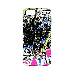 Spot Paint Pink Black Green Yellow Blue Sexy Apple Iphone 5 Classic Hardshell Case (pc+silicone)