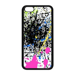 Spot Paint Pink Black Green Yellow Blue Sexy Apple Iphone 5c Seamless Case (black)