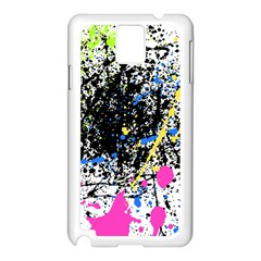 Spot Paint Pink Black Green Yellow Blue Sexy Samsung Galaxy Note 3 N9005 Case (white)