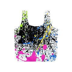 Spot Paint Pink Black Green Yellow Blue Sexy Full Print Recycle Bags (s)