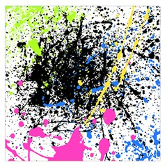 Spot Paint Pink Black Green Yellow Blue Sexy Large Satin Scarf (square)