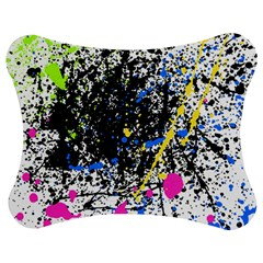 Spot Paint Pink Black Green Yellow Blue Sexy Jigsaw Puzzle Photo Stand (bow)