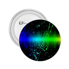 Space Galaxy Green Blue Black Spot Light Neon Rainbow 2 25  Buttons