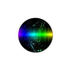 Space Galaxy Green Blue Black Spot Light Neon Rainbow Golf Ball Marker (4 Pack)