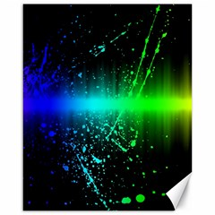 Space Galaxy Green Blue Black Spot Light Neon Rainbow Canvas 16  X 20