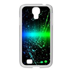 Space Galaxy Green Blue Black Spot Light Neon Rainbow Samsung Galaxy S4 I9500/ I9505 Case (white)
