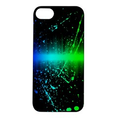 Space Galaxy Green Blue Black Spot Light Neon Rainbow Apple Iphone 5s/ Se Hardshell Case