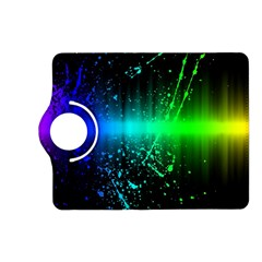 Space Galaxy Green Blue Black Spot Light Neon Rainbow Kindle Fire Hd (2013) Flip 360 Case
