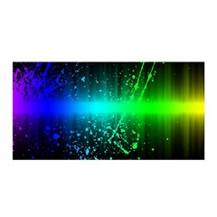 Space Galaxy Green Blue Black Spot Light Neon Rainbow Satin Wrap