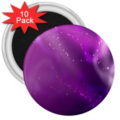 Space Star Planet Galaxy Purple 3  Magnets (10 Pack)