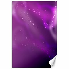 Space Star Planet Galaxy Purple Canvas 24  X 36