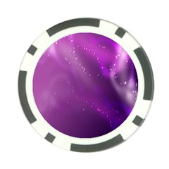 Space Star Planet Galaxy Purple Poker Chip Card Guard (10 Pack)