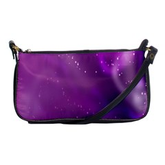 Space Star Planet Galaxy Purple Shoulder Clutch Bags