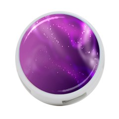 Space Star Planet Galaxy Purple 4 Port Usb Hub (two Sides)