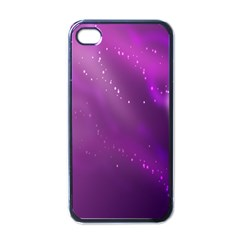 Space Star Planet Galaxy Purple Apple Iphone 4 Case (black)