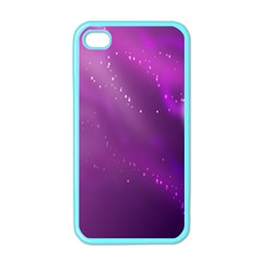 Space Star Planet Galaxy Purple Apple Iphone 4 Case (color)
