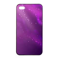 Space Star Planet Galaxy Purple Apple Iphone 4/4s Seamless Case (black)
