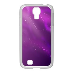 Space Star Planet Galaxy Purple Samsung Galaxy S4 I9500/ I9505 Case (white)