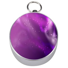 Space Star Planet Galaxy Purple Silver Compasses