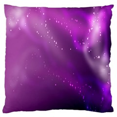 Space Star Planet Galaxy Purple Large Flano Cushion Case (two Sides)