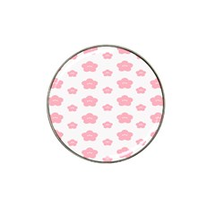 Star Pink Flower Polka Dots Hat Clip Ball Marker (10 Pack)