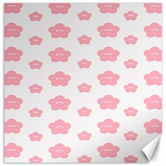 Star Pink Flower Polka Dots Canvas 20  X 20