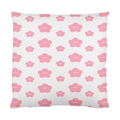 Star Pink Flower Polka Dots Standard Cushion Case (two Sides)
